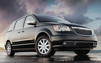 Executive chauffeur driven Chrysler Voyager