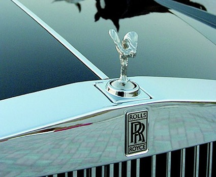 The famous Rolls Royce grille on our Fabulous Wedding Car