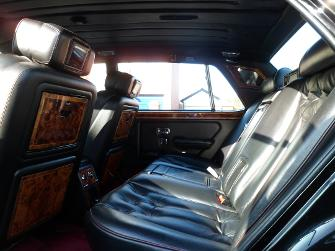 The Interior of our Rolls Royce Wedding Car