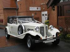 Cream Beauford wedding car